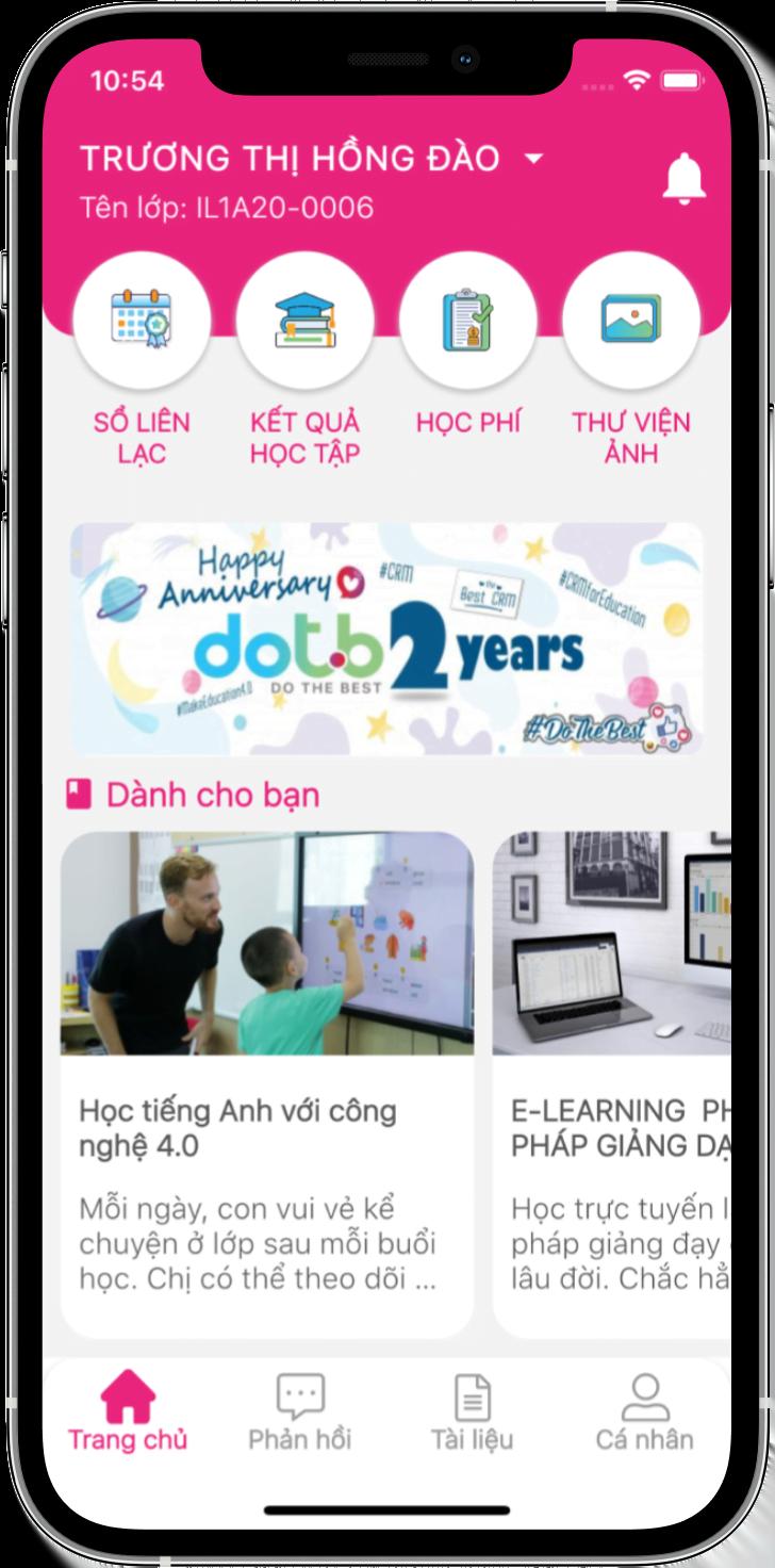 ứng dụng quản lý học tập DotB Sea
