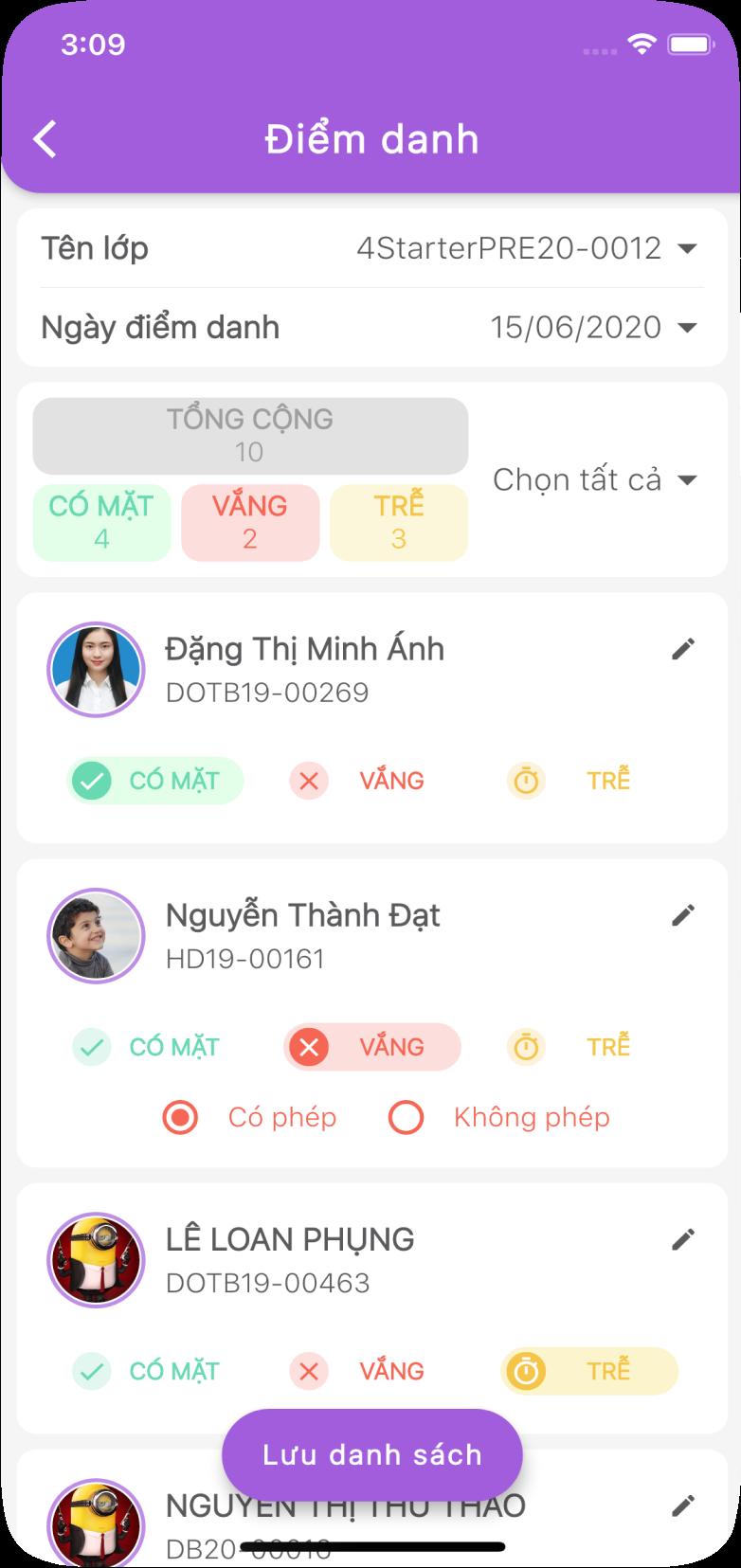 Hệ thống quản lý đào tạo - Quản lý trên Mobile cho giáo viên